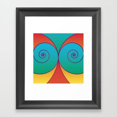 Swirly pretty thingies of goodness Framed Art Print