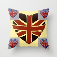 I Heart Great Britain. Throw Pillow