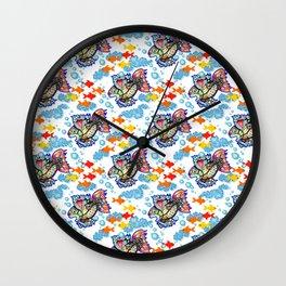 Fiesta Fish Wall Clock