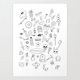 Items Art Print