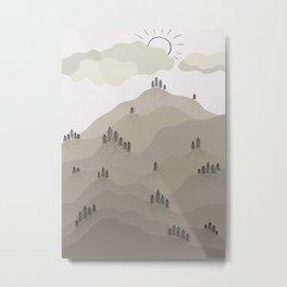 Fall Hills Metal Print