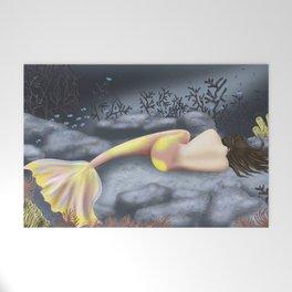 Sleeping Mermaid Welcome Mat