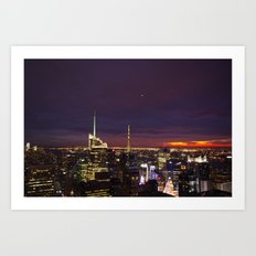 NYC from Rockefeller Art Print