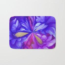 311 - Abstract Flower design Bath Mat