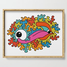 Psychedelic eye lick Serving Tray