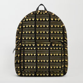 Luxury Gold Black Foil Party Balloons Pattern, Vector Seamless Trendy Backpack