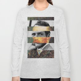 Van Gogh's Self Portrait & Paul Newman Long Sleeve T-shirt