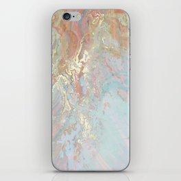 Pastel unicorn marble iPhone Skin