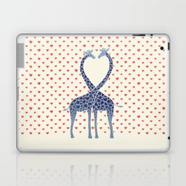 Giraffes in Love - a Valentine's Day illustration Laptop & iPad Skin