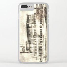 New Orleans Paddle Steamer Vintage Clear iPhone Case