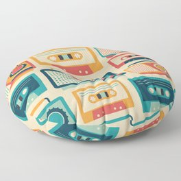 Audio Cassettes and Radios Floor Pillow