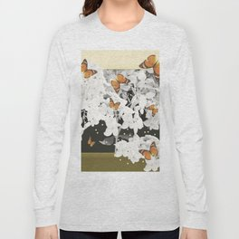 Hydrangea And Butterflies in Frame #decor #society6 Long Sleeve T-shirt