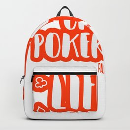 Poker Game Lucky Card Life Gift Backpack