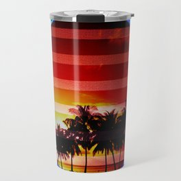 Synthwave Poster v.1 Travel Mug