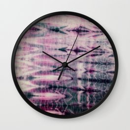 pink tribal geo Wall Clock