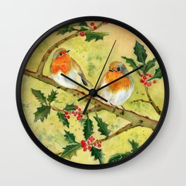 English Robin Wall Clock