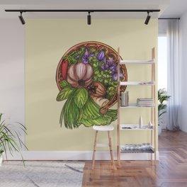 Art nouveau vegetables Wall Mural