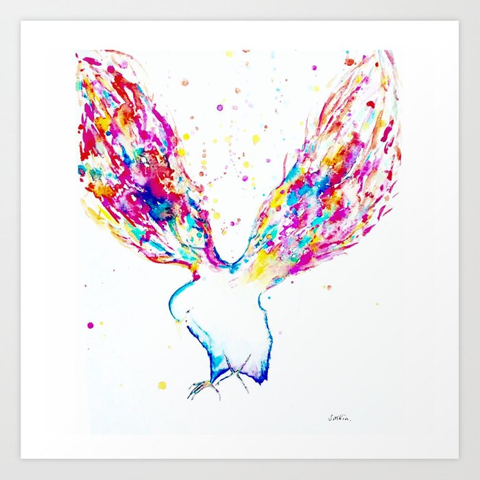Rainbow Wings Art Print