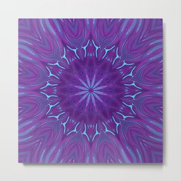 Pink, Purple, and Blue Flower Metal Print