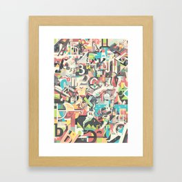Cyrillic alphabet Framed Art Print