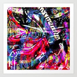 Caramel Yoga (abstract art) Art Print