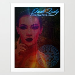 Dark Lady of the Forest of the Damned Art Print