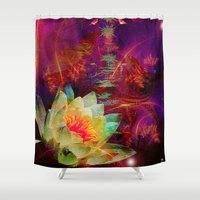 astrology Shower Curtains featuring Astrology by shiva camille