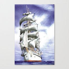 Tall Ship at Sea Canvas Print