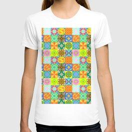 Bohemian Jungle Quilt Tiles 3 T-shirt