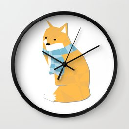 Cozy Fox Wall Clock