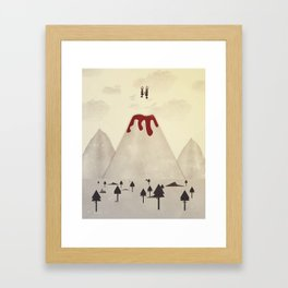 Fall With Me Framed Art Print