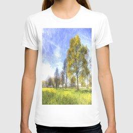 Summer Farm Trees Art T-shirt