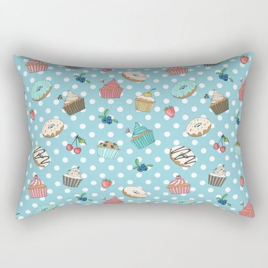 Donuts and muffins Rectangular Pillow