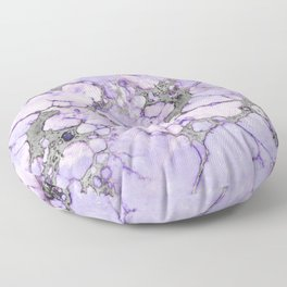 Lavender Marble Floor Pillow