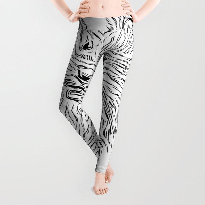 Inky Black and White -Otter Leggings