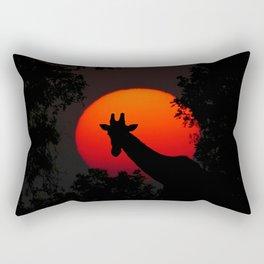 Giraffe Sunset Rectangular Pillow