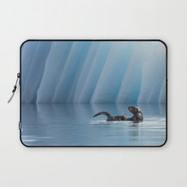 Playful Sea Otter Laptop Sleeve