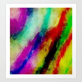 Colorful Abtract Paint Splats Art Print