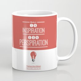 Lab No. 4 - Thomas Alva Edison Quote typography print Inspirational Quotes Poster Coffee Mug