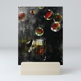 L'évasion des poissons rouges ( The escape of goldfish ) Mini Art Print