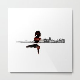 Blood Woman in The City Metal Print