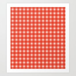 Grid Red Color - Accessories for home Art Print
