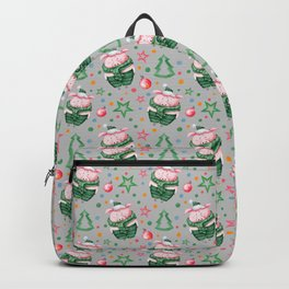 Christmas pig pattern Backpack