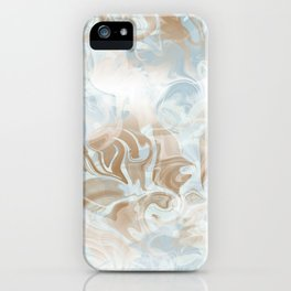 Watercolour in Blue Gold iPhone Case
