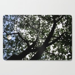 Looking up into the Kapok tree Cutting Board