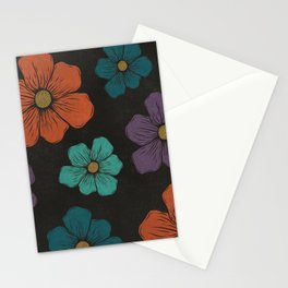 Big Print Floral Pattern Stationery Cards