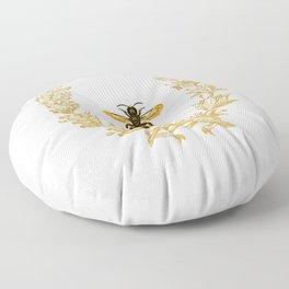 French Bee acorn wreath Floor Pillow