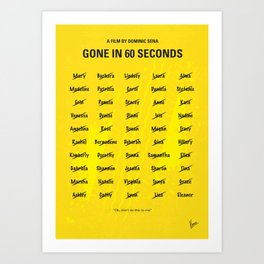 No032 My Gone In 60 Seconds MMP Art Print