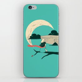 Did you see the whale in flight iPhone Skin