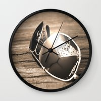 sunglasses Wall Clocks featuring Sunglasses by Cs025